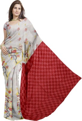 Glitters Printed Fashion Chanderi Sari