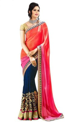 Krishna Embriodered Fashion Handloom Georgette Sari