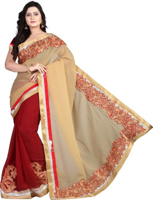 Cozee Shopping Embriodered, Self Design Bollywood Lace, Georgette Sari