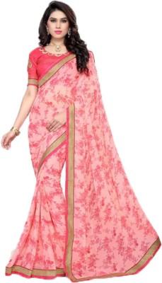 PP Unique Creations Printed Fashion Georgette Sari