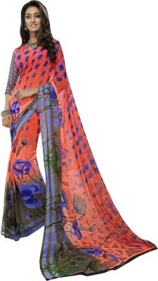 Leesa Sarees Floral Print Daily Wear Georgette Sari