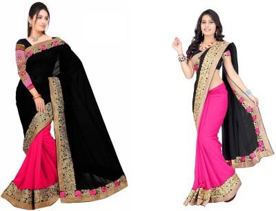 Kpcreation Embriodered Bollywood Chiffon Sari