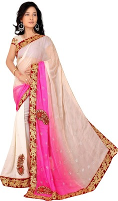 Mahalaxmi Fashion Embellished Bollywood Georgette Sari