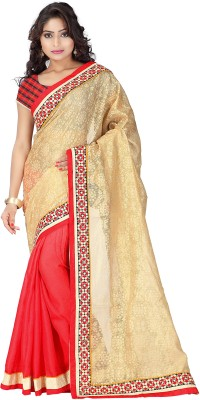 SkyBlue Fashion Embriodered Fashion Art Silk Sari