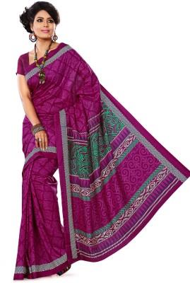 AJS Paisley, Applique, Printed Bollywood Art Silk Sari