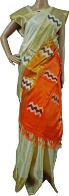 Mosanta De Boutique Printed Banarasi Handloom Tussar Silk Sari