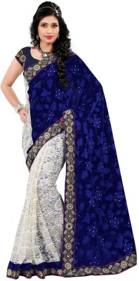 Dhnet Embriodered Fashion Viscose, Brasso Sari