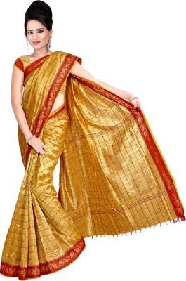 Shatabdi Checkered, Self Design Manipuri Handloom Silk Sari