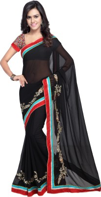 7 Colors Lifestyle Embriodered Fashion Georgette Sari