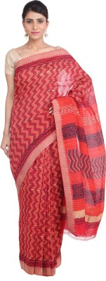 Indian Artizans Striped Fashion Silk Cotton Blend Sari