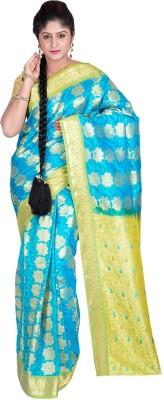 F3 Apparels Floral Print Kanjivaram Art Silk Sari