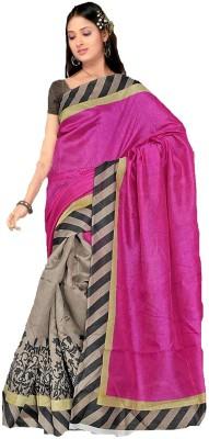 AJS Chevron, Floral Print, Graphic Print, Printed Fashion Art Silk Sari