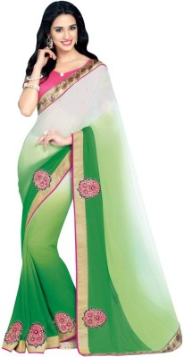 Desi Look Embriodered Bollywood Georgette Sari