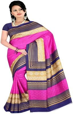 VipSun Printed Fashion Banarasi Silk Sari