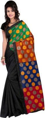 Sathiya Print Floral Print Fashion Pure Silk Sari