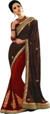 Madhuri Embriodered Fashion Georgette Sari