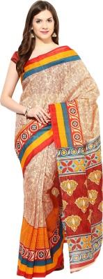 Fostelo Printed Daily Wear Cotton Sari