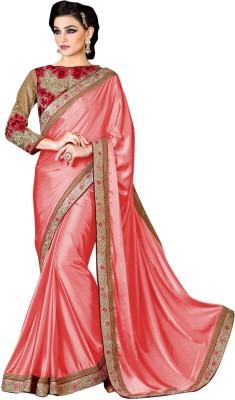 Brijraj Embriodered Fashion Satin Sari