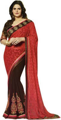 Isha Enterprise Embriodered Fashion Handloom Georgette Sari