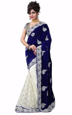 Fabliva Embriodered Fashion Velvet Sari