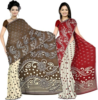 Anand Sarees Printed Daily Wear Synthetic Fabric Sari
