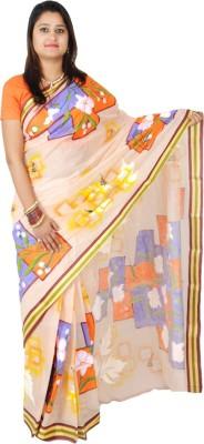NEEVI Hand Painted Tant Cotton Sari