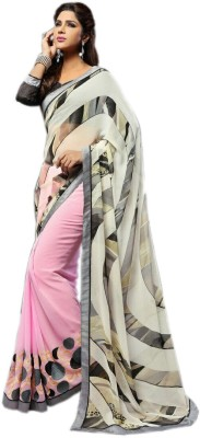 KL COLLECTION Plain, Polka Print, Striped Fashion Synthetic Sari