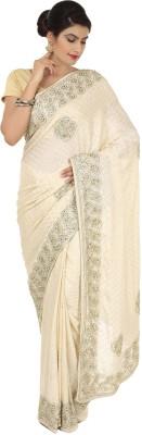 Gracia Embellished Fashion Handloom Jacquard, Crepe Sari