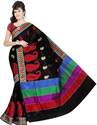 Thelibazz Embellished Fashion Cotton Sari