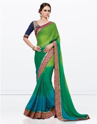 Zemi Solid Fashion Crepe Sari