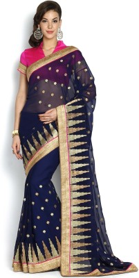 SareeBazaar Embriodered, Self Design Fashion Georgette Sari