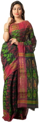 Rajib's Creation Embriodered Fashion Handloom Cotton Sari