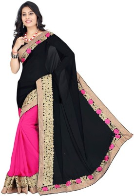 Radhe Shree Saree Self Design Lehenga Saree Georgette Sari