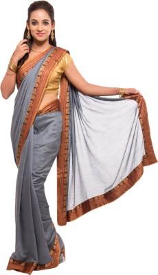 Geisha Self Design Fashion Polycotton Sari