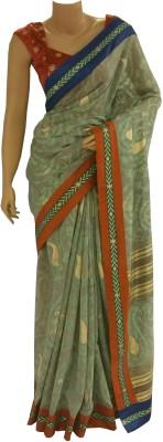 BEAUVILLE VAIIBAVAM Printed Fashion Raw Silk Sari