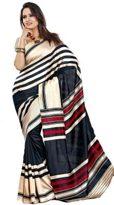 Ethnic Andaaz Striped, Self Design Fashion Art Silk Sari