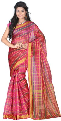 Krishna Fab Checkered Fashion Cotton Sari