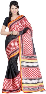 Chandramoulifashion Printed Bhagalpuri Poly Silk Sari