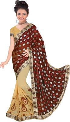 KRISHN123 Embriodered Fashion Jacquard Sari