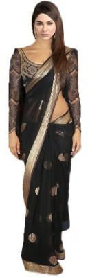 Sanjana2SwarupaFashion Self Design Bollywood Net Sari