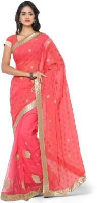 Khazana Embriodered Fashion Chiffon Sari