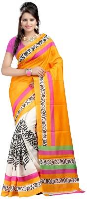 The Designer House Floral Print Bhagalpuri Khadi Sari