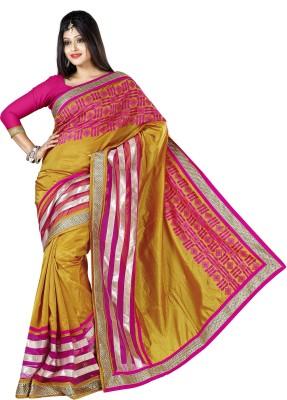 Urjita Creations Embriodered Fashion Silk Sari