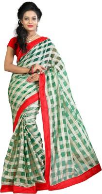 RoZiy Self Design Assam Silk 100% Genuine Leather Sari