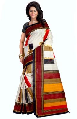 Kalika Graphic Print Bhagalpuri Cotton Linen Blend Sari