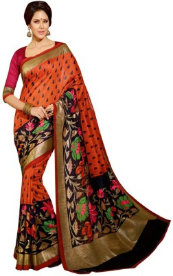 Poonam Saree Printed Bhagalpuri Silk Sari available at Flipkart for Rs.389