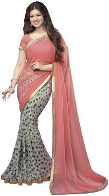 TriveniCreation Printed Bollywood Chiffon Sari