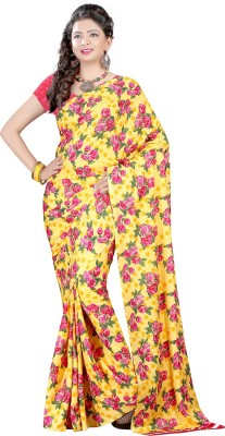 Aarnas Fashion Printed Fashion Crepe Sari
