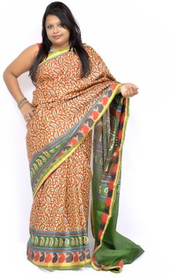 Gulmohaar Printed, Paisley Bhagalpuri Silk Sari