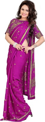 shreegroup Embriodered Bollywood Chiffon Sari